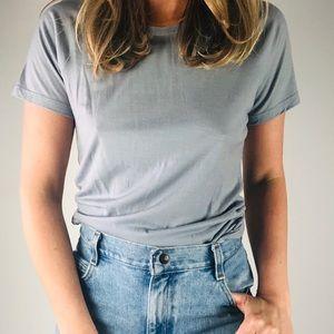 SMARTWOOL Grey Merino Wool Short Sleeve Tee Shirt
